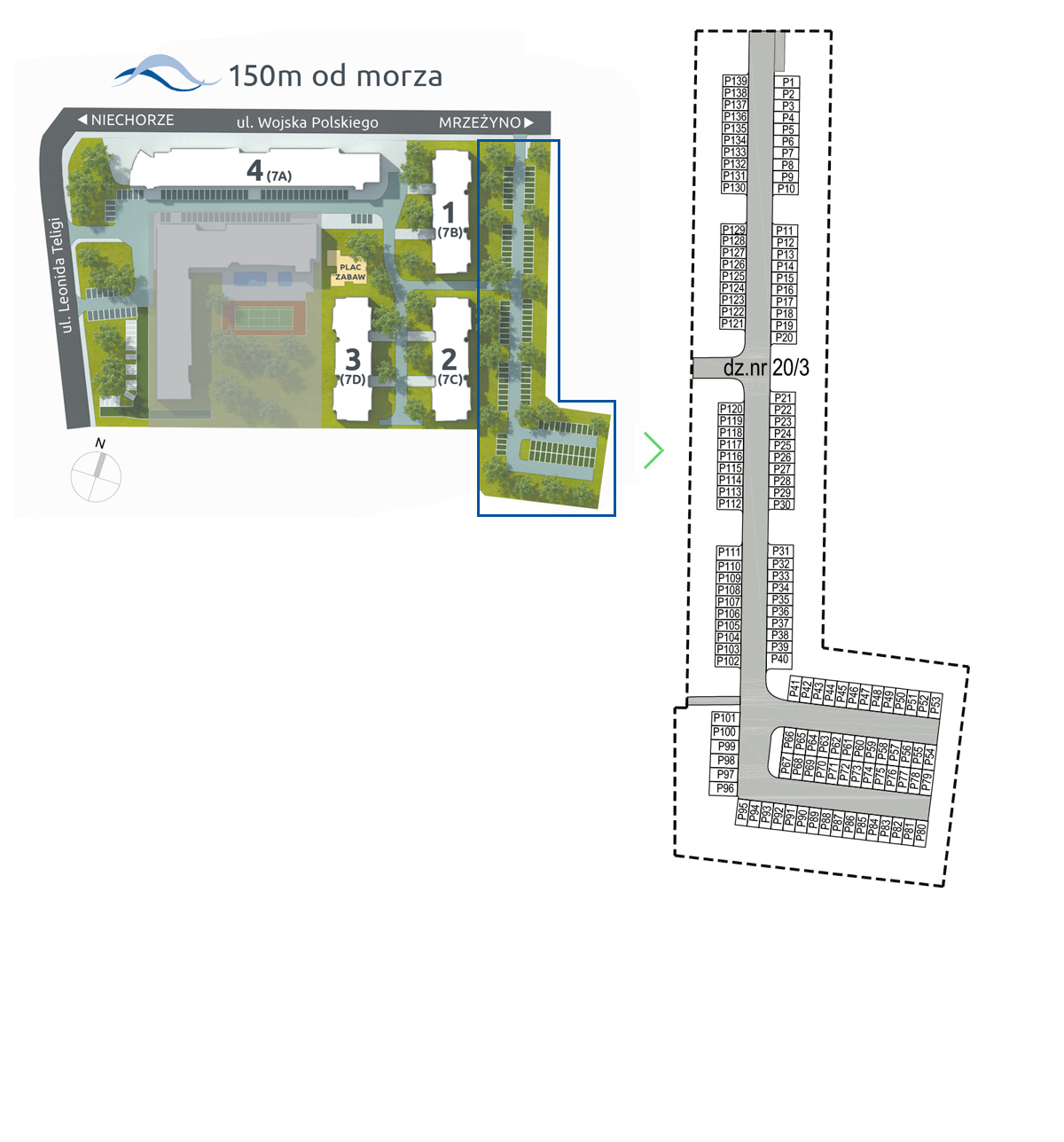 plan parkingu Baltic Park Pogorzelica